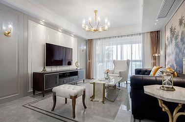 轻奢美式风格 3室2厅2卫 中南世纪花城130平米