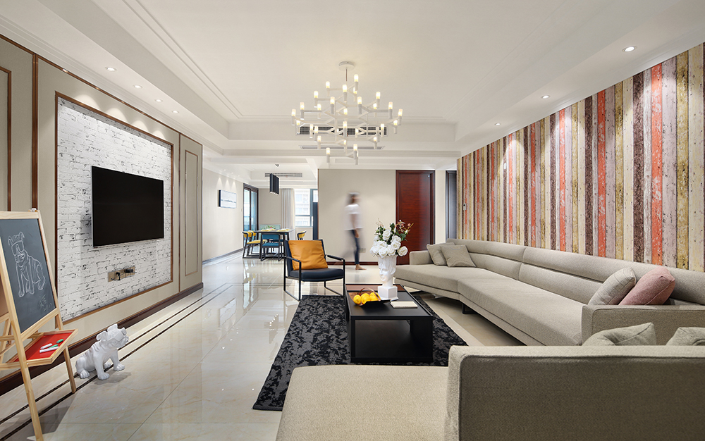 现代简约 海安华新一品 三室两厅 180平米