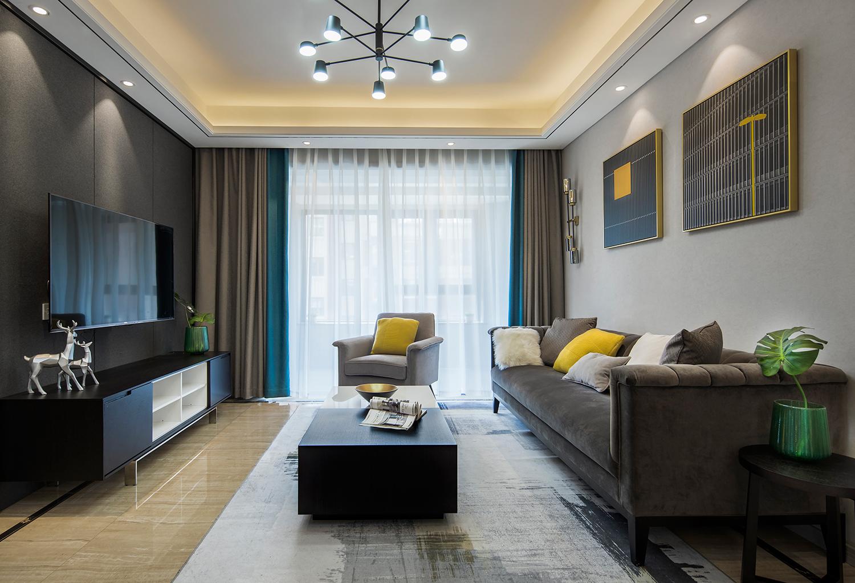 佳期漫 现代简约 三室两厅  120平米 南通装修设计