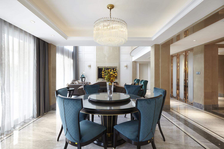 美式轻奢 英伦上院 南通别墅装修设计 480平米