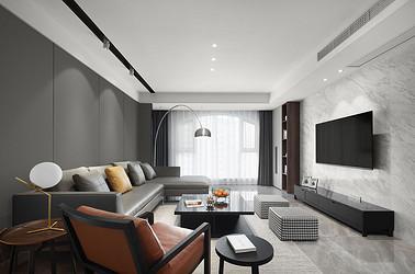 现代简约  中南世纪花城  三室两厅 130平米装修