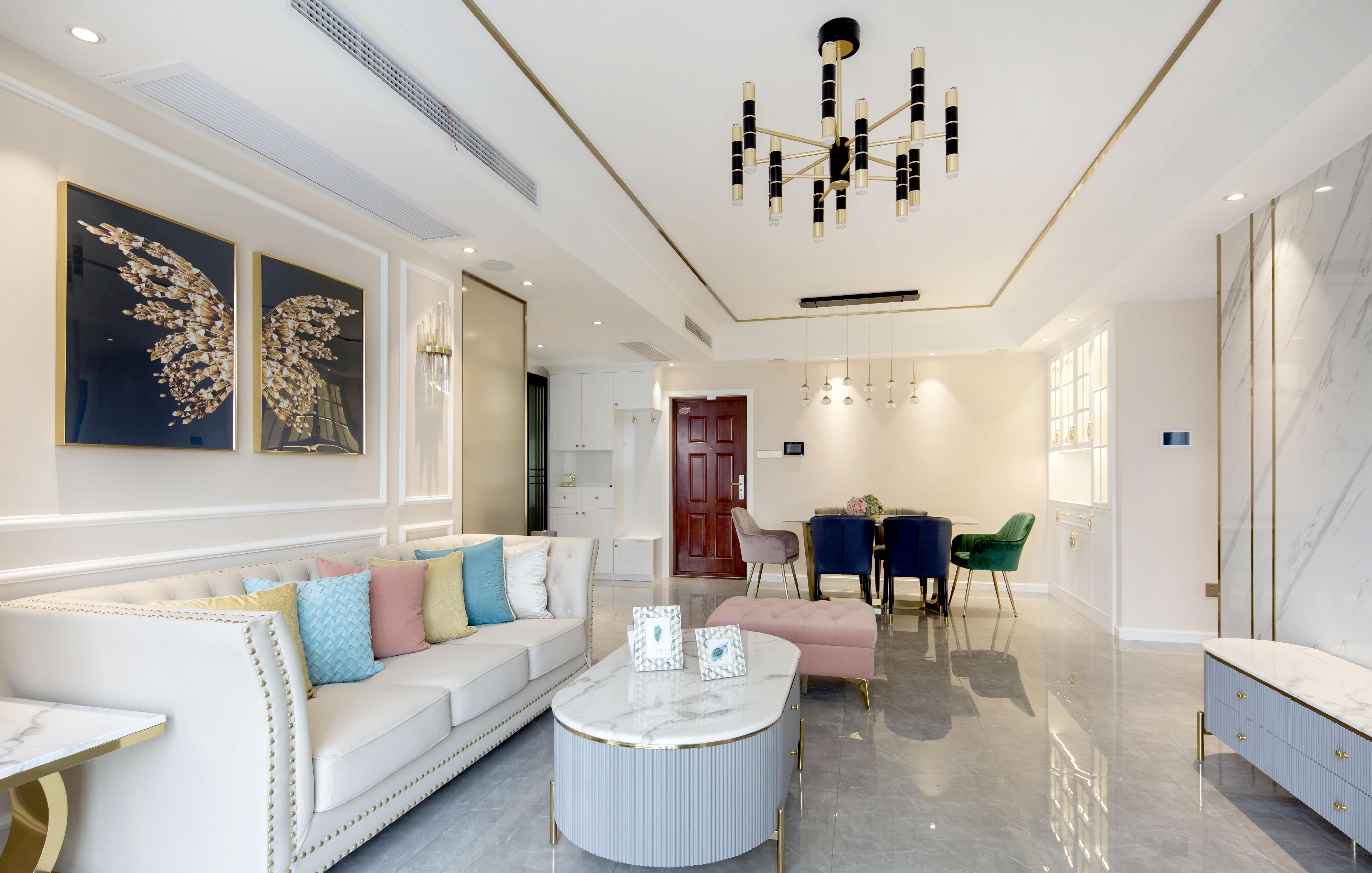 现代轻奢   优山美地名邸  3室2厅 125平米装修