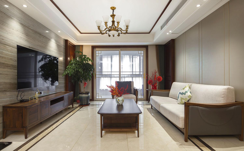 新中式-江海家园-三室两厅-150平米