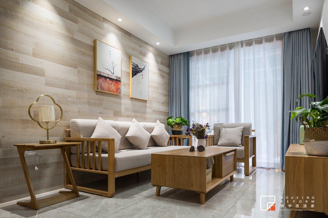 南通老房改造翻新-北欧风格-两室两厅-90平米装修
