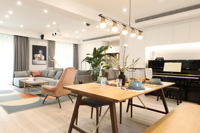 现代北欧- 150平-三室两厅-实景装修案例