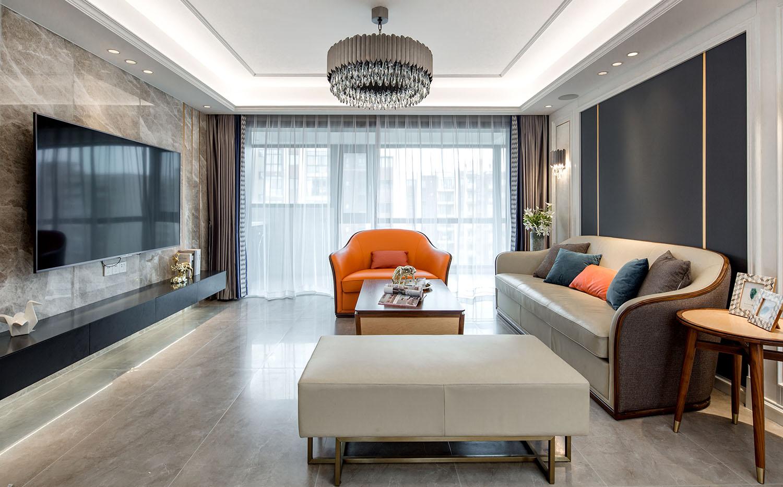 现代轻奢-翡翠华府-四室两厅-144平米装修案例