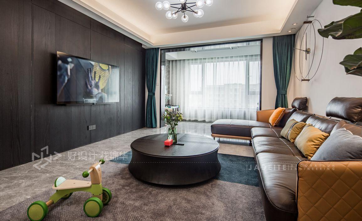 现代风格-优山美地名邸-3室2厅-135平米装修装修-三室两厅-现代简约