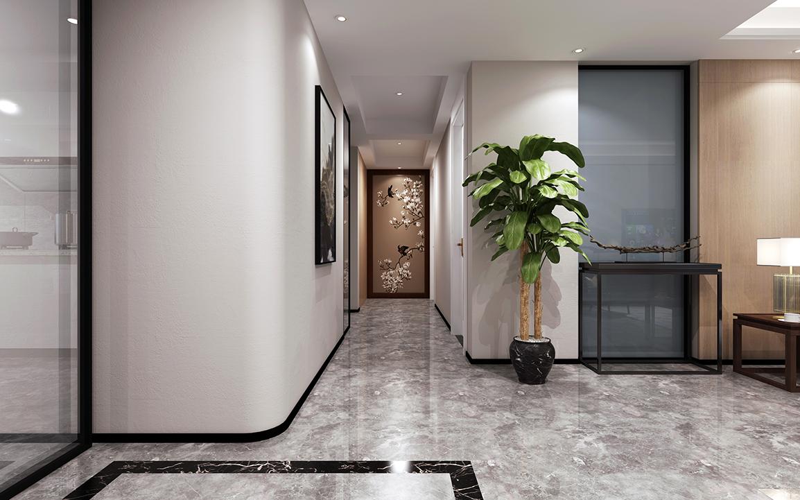 现代中式-苏建名都城175平米-四室两厅两卫装修-两室一厅-现代简约