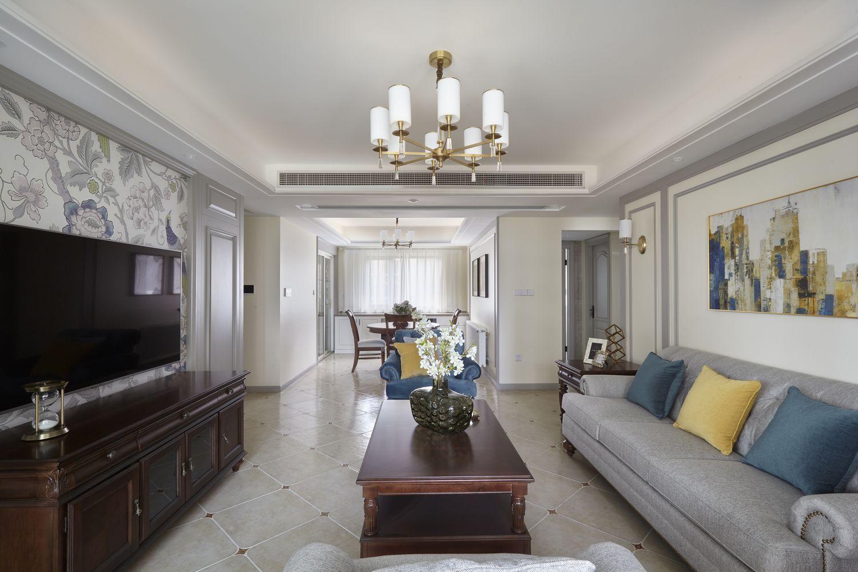 简约美式-万科大都会 -125平米  三室两厅