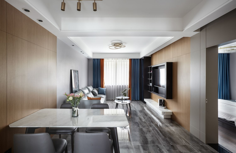 现代风格-学士府91平米- 三室两厅一卫 装修案例