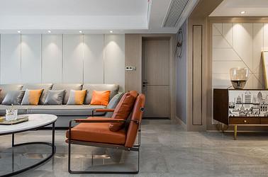现代简约-苏建名都城140平米- 三室两厅两卫装修案例