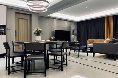 现代风格-九玺台119平米- 三室两厅两卫 装修案例