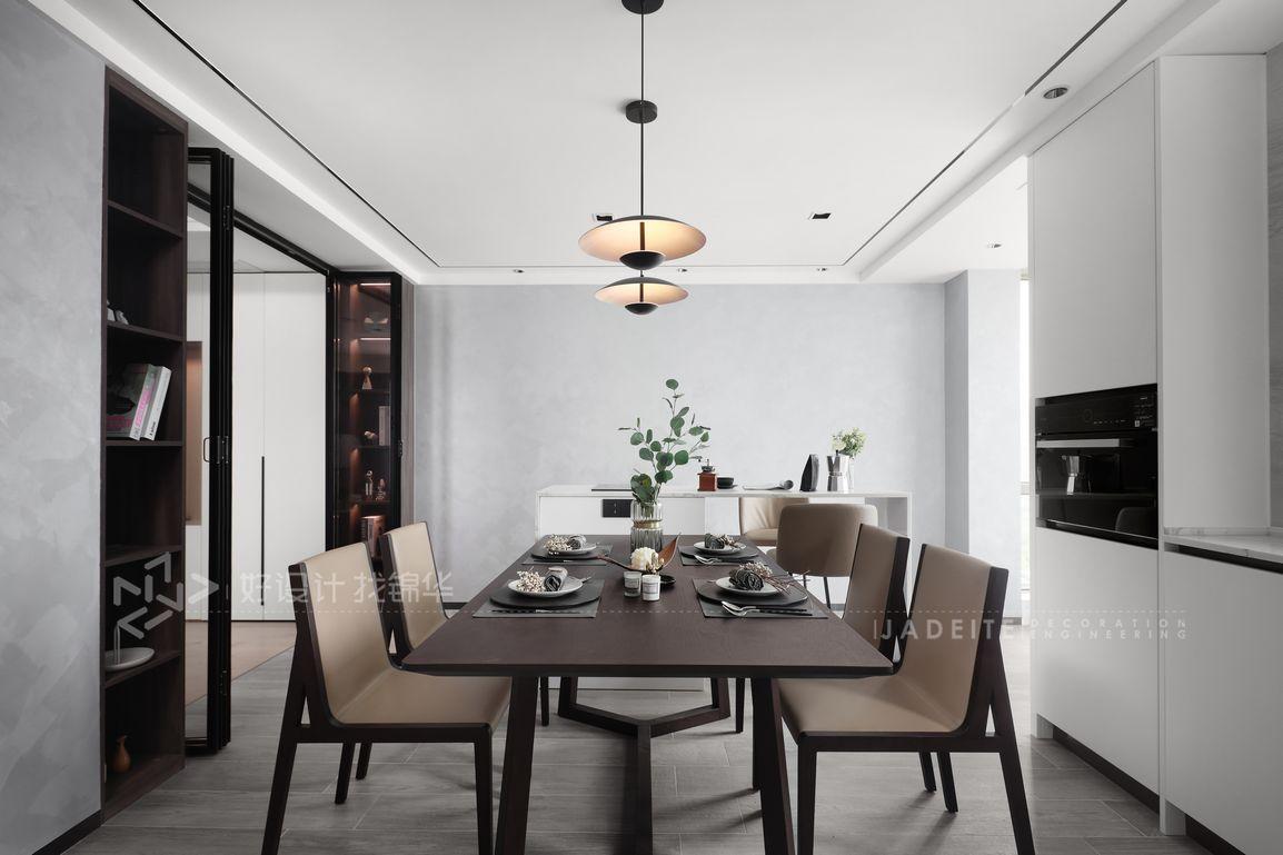 现代简约-绿城玉兰公寓160平米- 三室两厅两卫装修案例