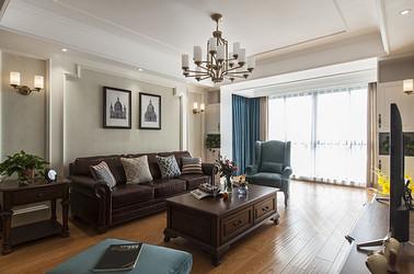 美式风格 万和润园 三室两厅 136平米