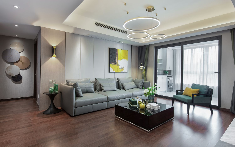 现代风格-城市之光118平-三室两厅两卫装修案例