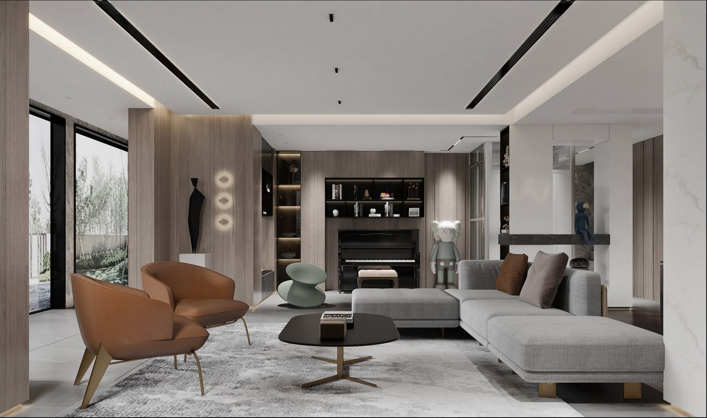 现代风格-凤凰莱茵苑350平米 -别墅装修设计