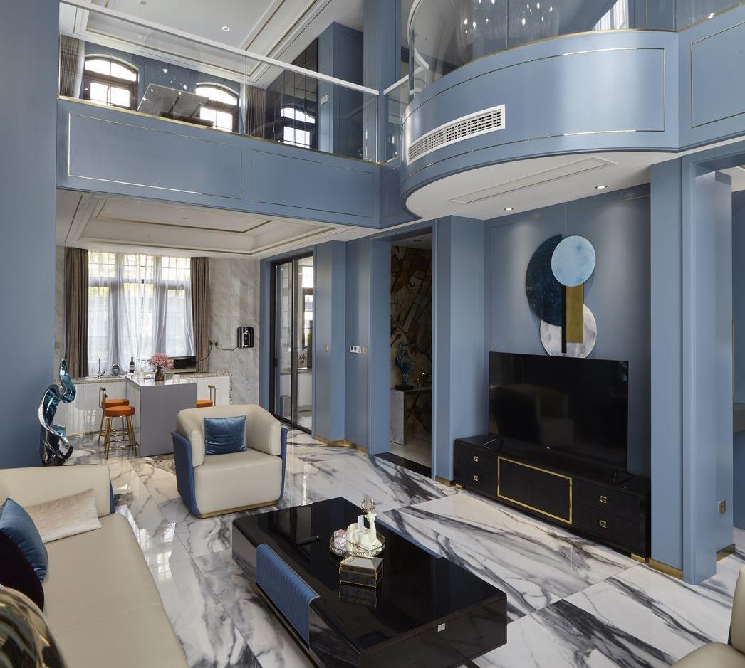 现代轻奢-滨湖国际400平米-四层别墅装修案例