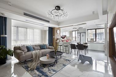 现代北欧风格-如东浅水湾名门世家130平米-三室两厅装修案例