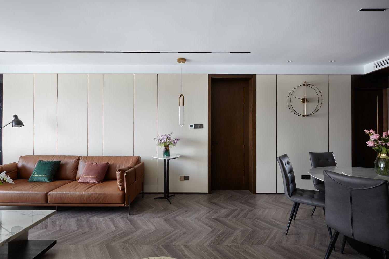现代简约-奥体尚府134平米- 三室两厅装修案例
