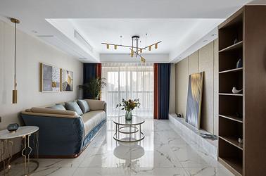 现代轻奢-如意紫都140平米-三室两厅装修案例