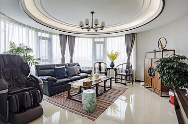 新中式-江海皇都140平米-三室两厅装修案例