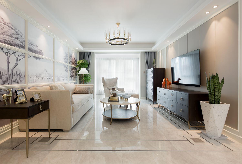 现代美式-御景华庭140平米-四室两厅装修案例