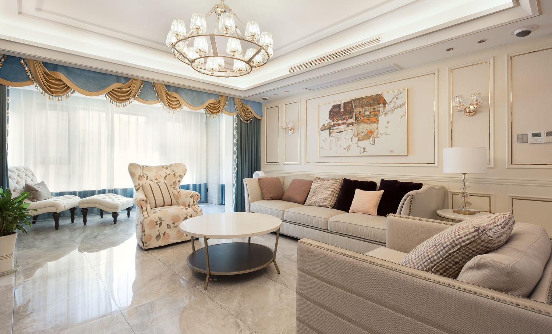 美式轻奢-橡树湾250平米-四室两厅装修案例