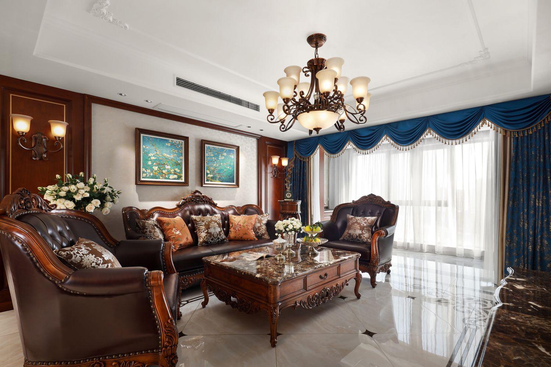 欧式古典-恒盛尚海湾130平 -三室两厅装修案例