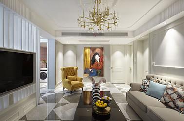 美式风格-润阳花园140平米-三室两厅装修案例
