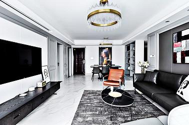 美式混搭-华强城130平米-三室两厅装修案例