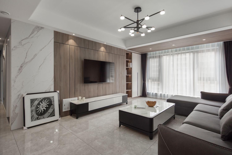 现代简约-世茂新界120平米-三室两厅装修案例