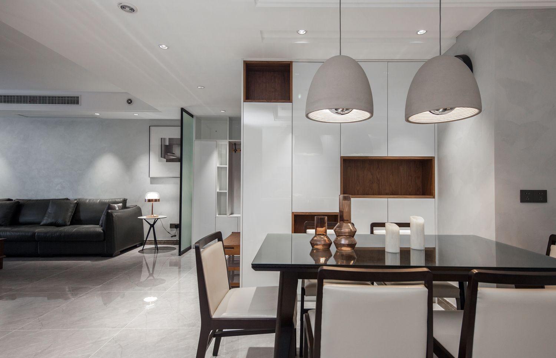 现代简约-苏建名都城150平米-三室两厅装修案例