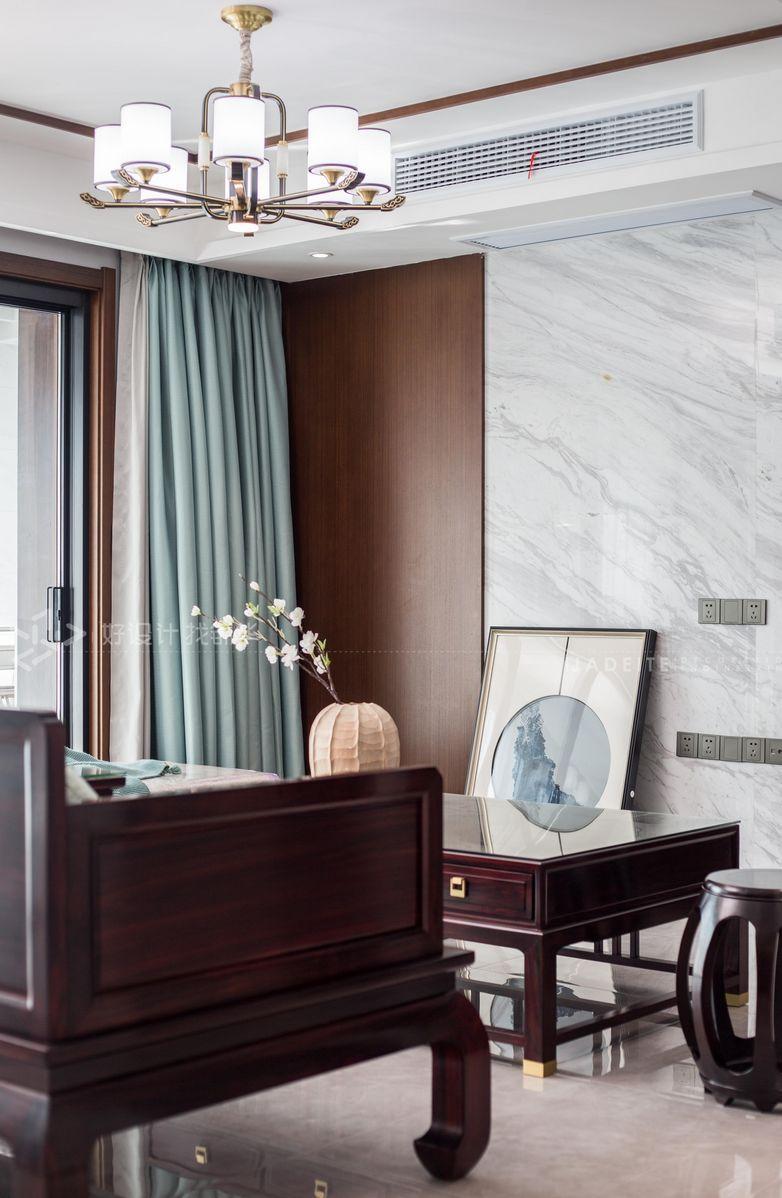 新中式风格-香溢紫郡143平米-四室两厅装修案例装修-四室两厅-新中式