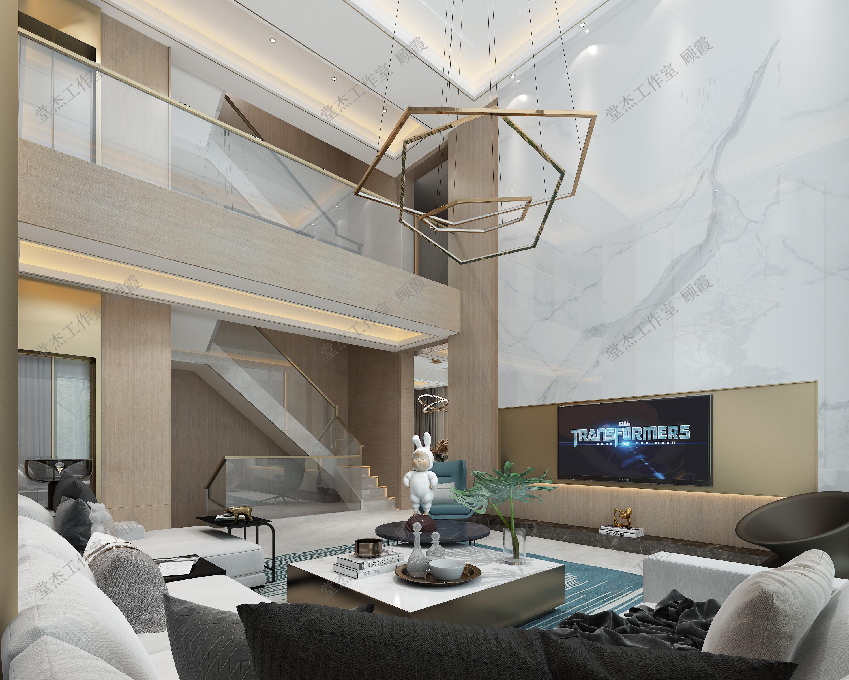 现代轻奢-南通别业500平米-四室两厅装修案例