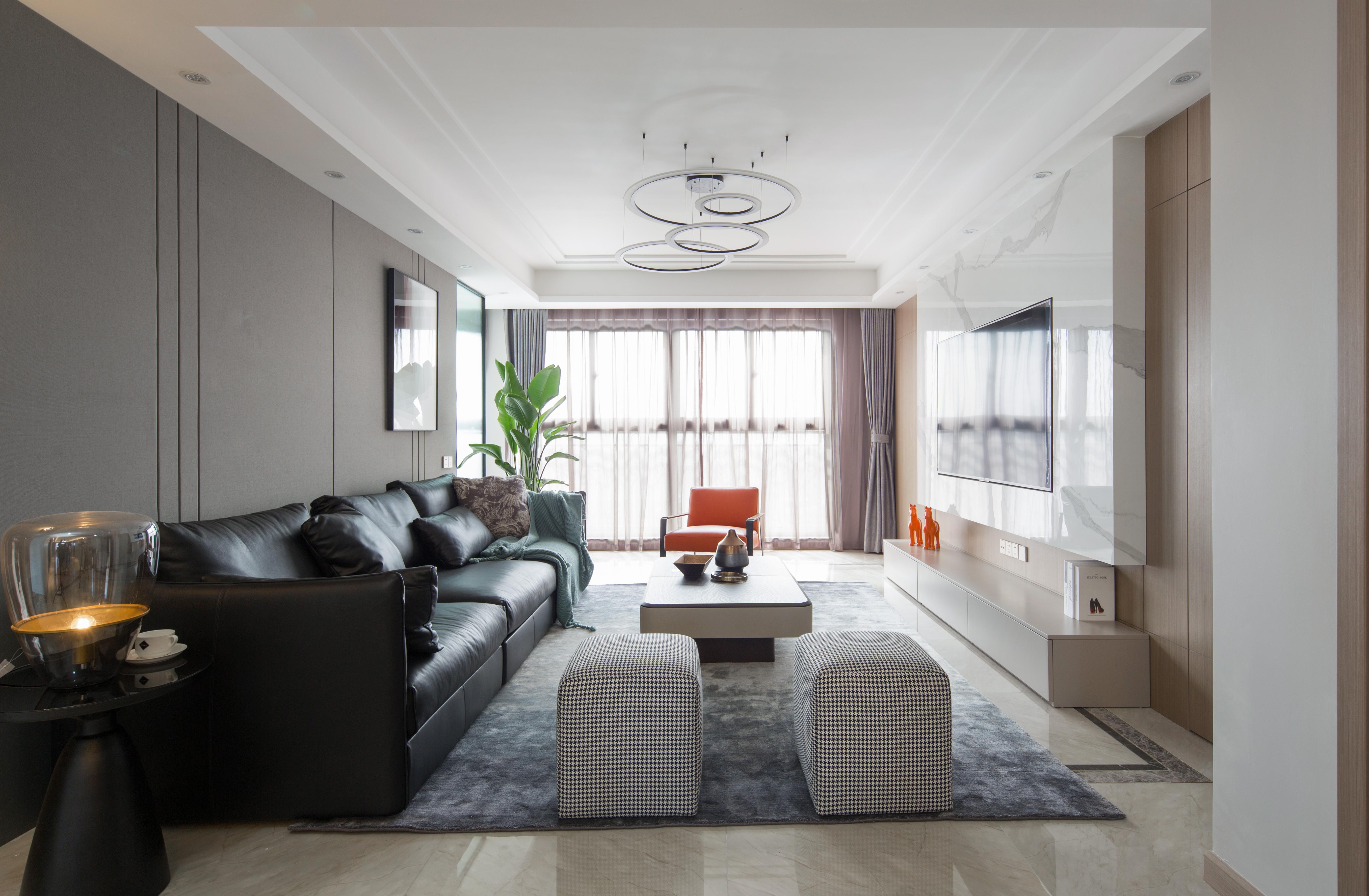 现代简约-中南世纪花城170平米-四室两厅装修案例