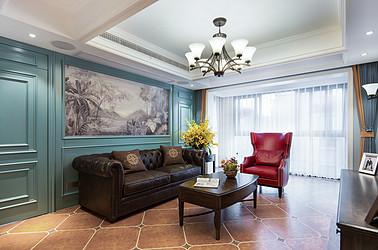 美式田园-嘉御龙庭128平-三室两厅装修案例