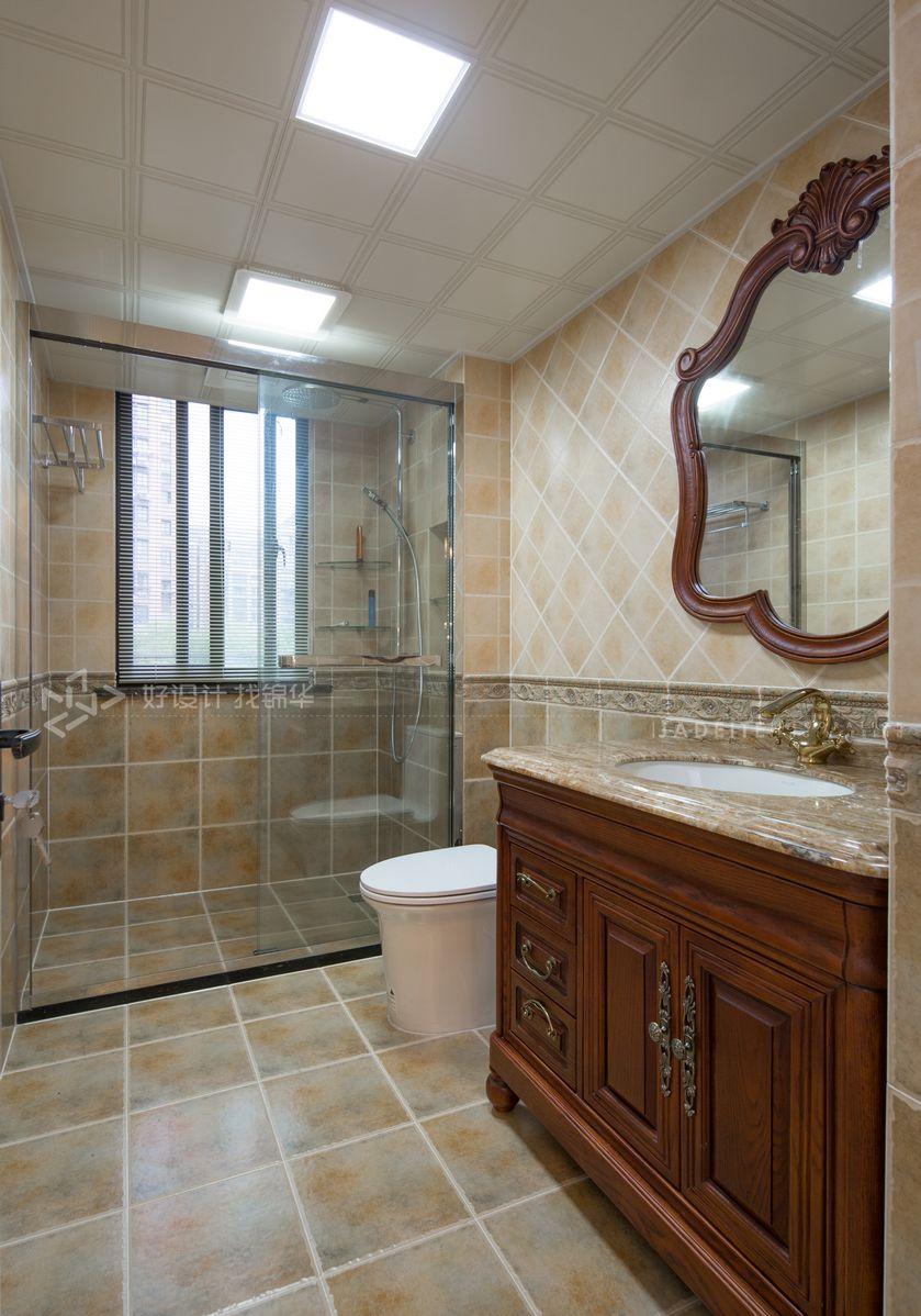 美式田园-嘉御龙庭128平-三室两厅装修案例装修-三室两厅-美式田园