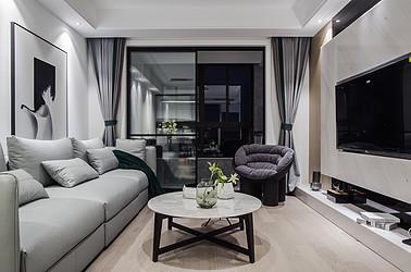 现代简约-海门尚贤新村95平-两室两厅装修案例
