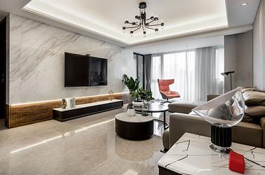 现代简约-华强城130平米-三室两厅装修案例