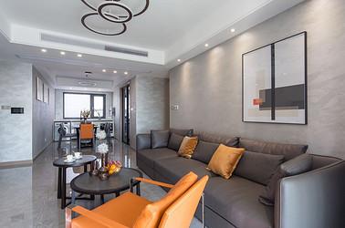 现代简约-如东漫悦湾126平米- 三室两厅装修案例