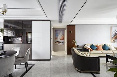 现代轻奢-中南万科大都会130平米-三室两厅装修案例