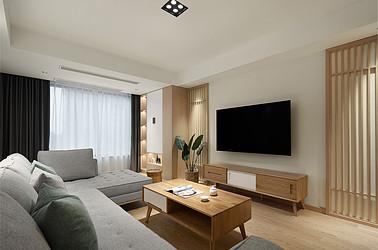 日式风格-万濠星城120平-三室两厅一卫装修案例