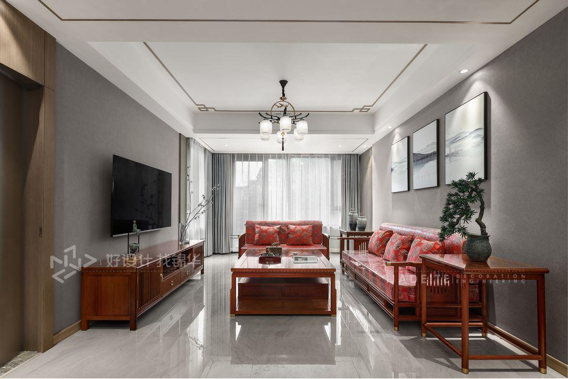 新中式-苏建名都城125平-三室两厅一卫-装修案例装修-两室两厅-新中式