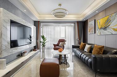 现代轻奢-时代都会-148平米-四室两厅