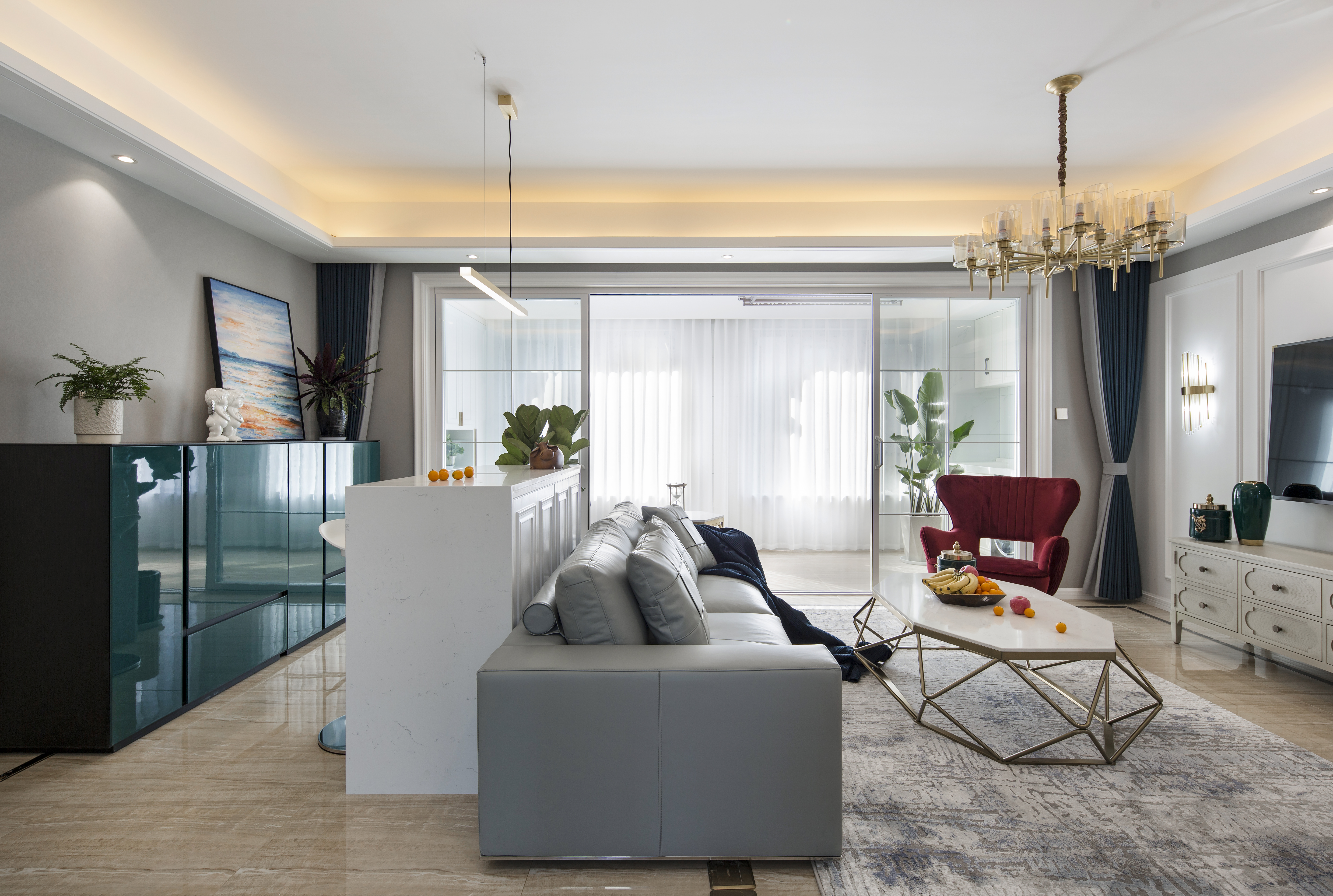 混搭-佳期漫143平米-四室两厅-装修案例