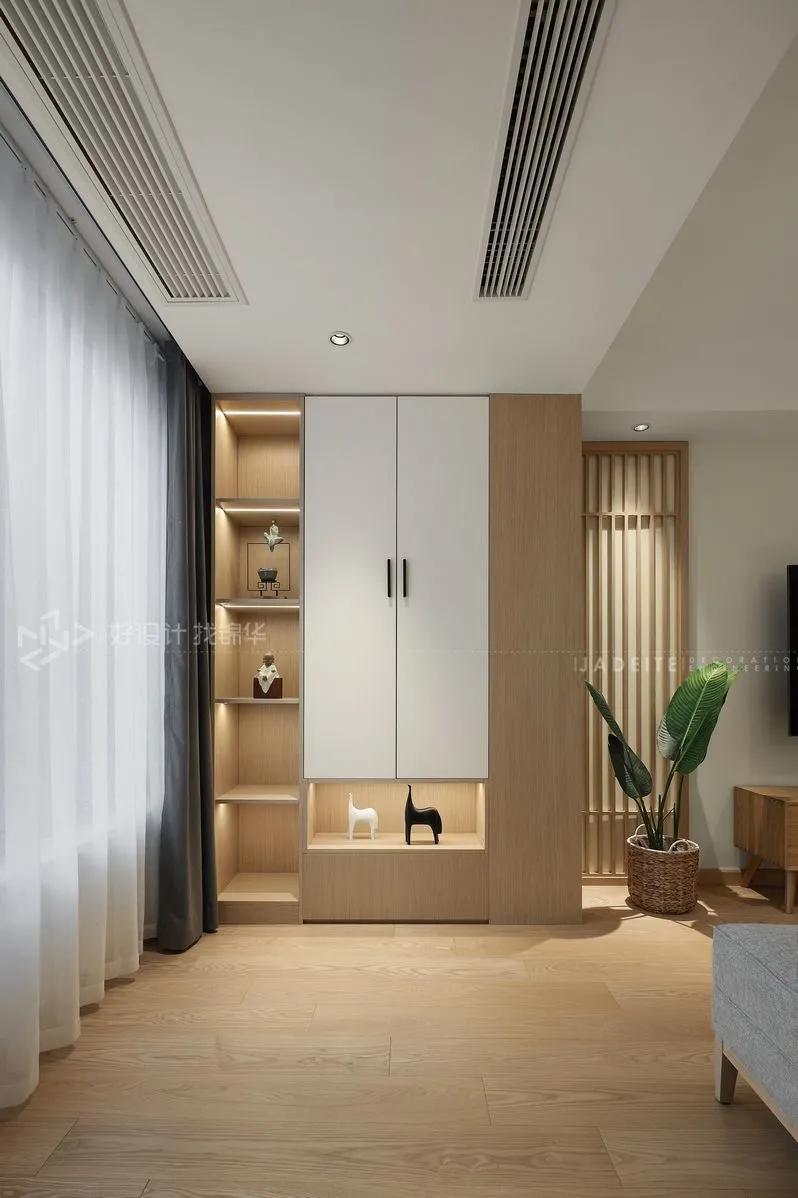 日式风格-万濠星城120平-三室两厅一卫装修案例装修-三室一厅-日式