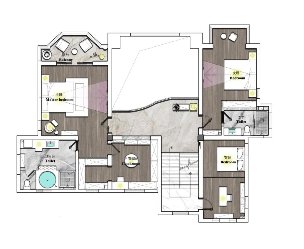 南通别墅装修设计-优山美地510平米-别墅装修案例