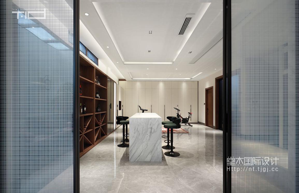 新中式-万濠山庄400平米-别墅装修案例装修-别墅-新中式