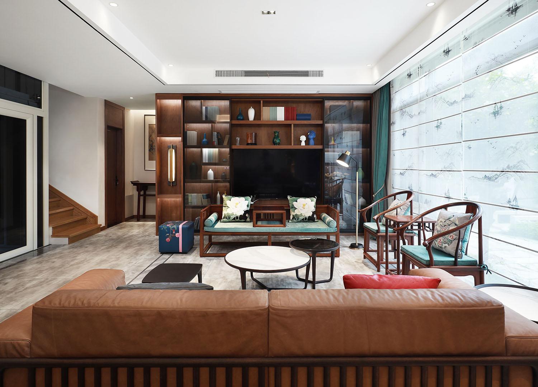 新中式-万濠山庄400平米-别墅装修案例