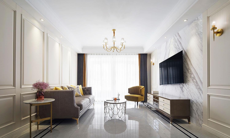 华新御园 三室两厅一厨两卫 140㎡美式轻奢 南通装修设计